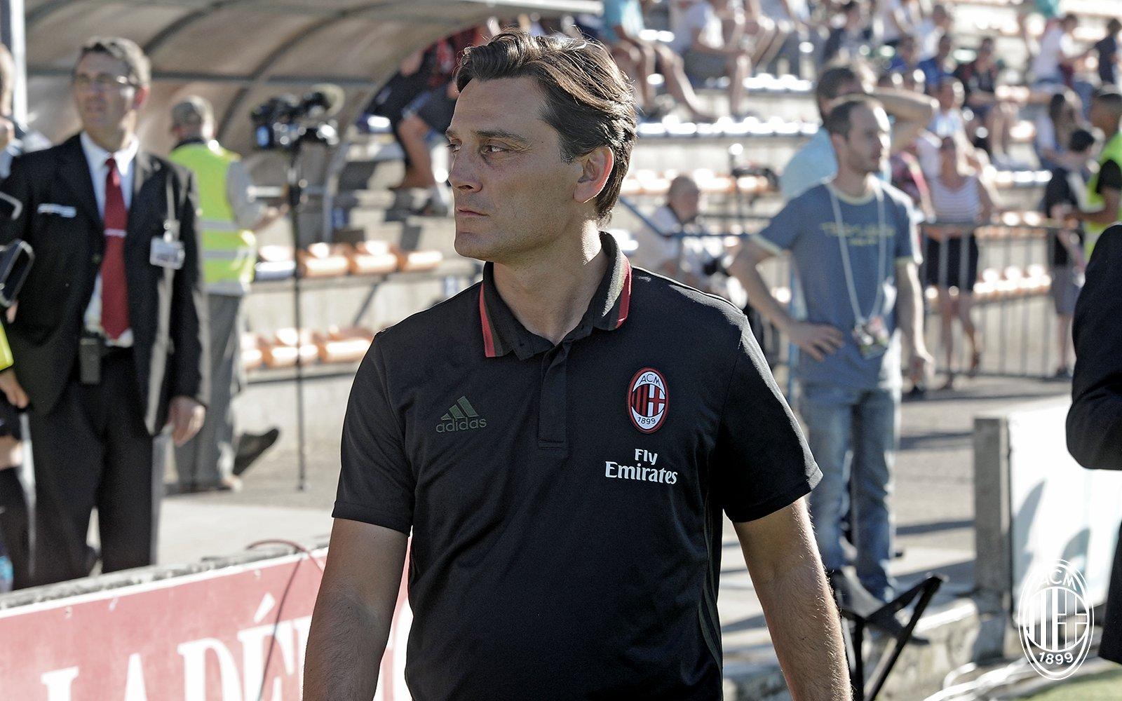 Vincenzo Montella durante un match amichevole. Fonte foto: A.C. Milan