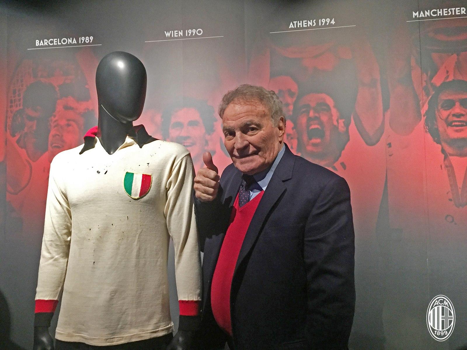 José Altafini ospite al Museo Mondo Milan. Fonte foto: A.C. Milan