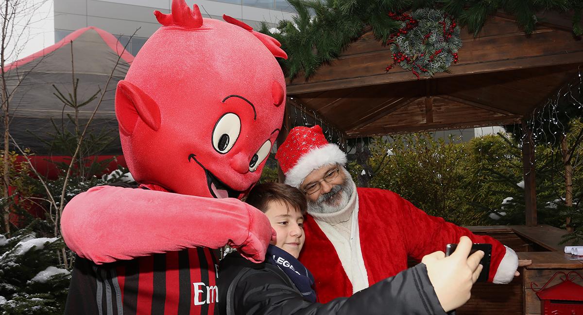 Un momento del Casa Milan Christmas Village 2016/2017. Fonte foto: A.C. Milan