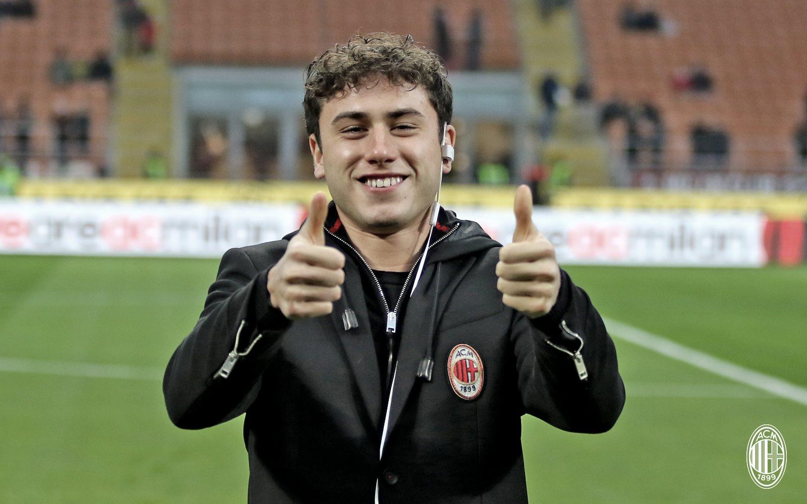 Davide Calabria, uno dei terzini rossoneri, al rientro in Coppa Italia. Fonte foto: A.C. Milan