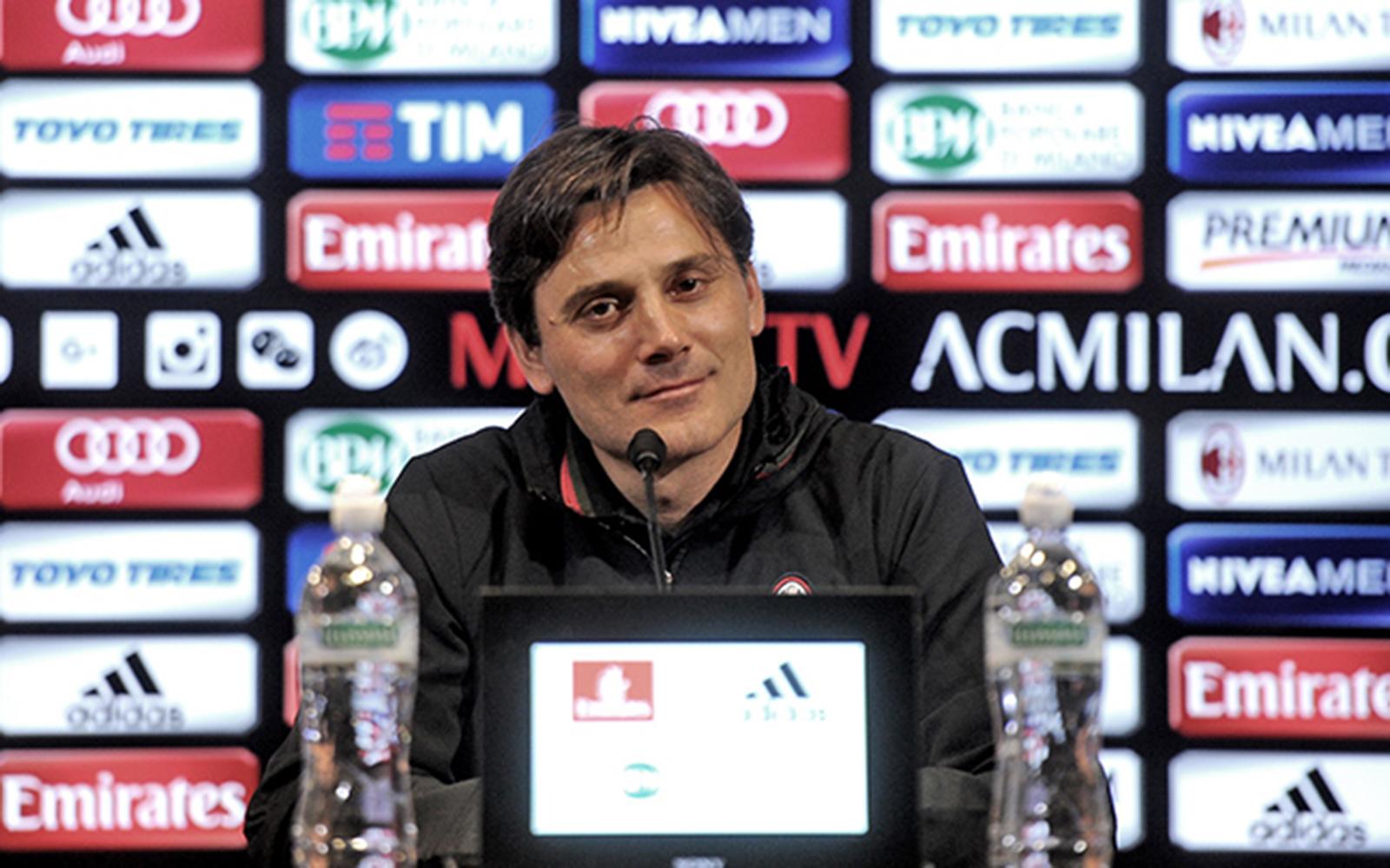 Montella, allenatore del Milan.