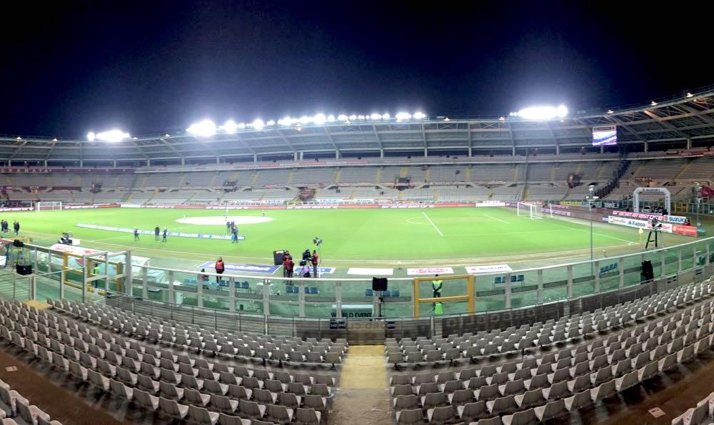 Lo stadio olimpico di Torino.