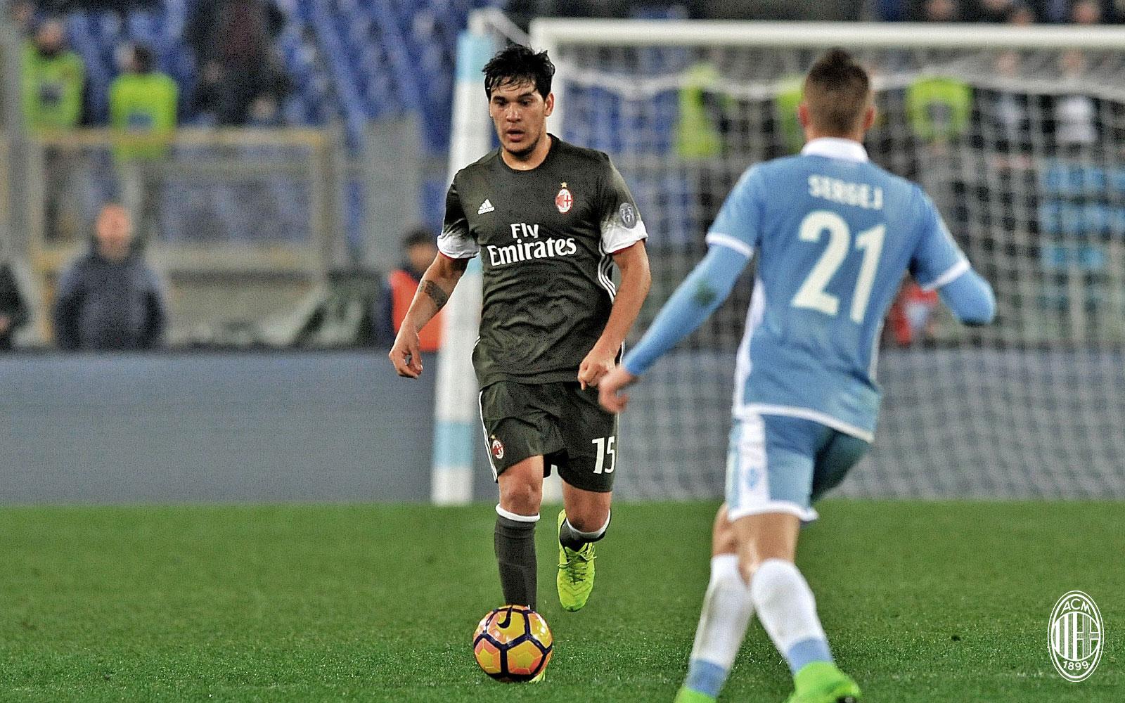 Gustavo Gomez durante Lazio-Milan