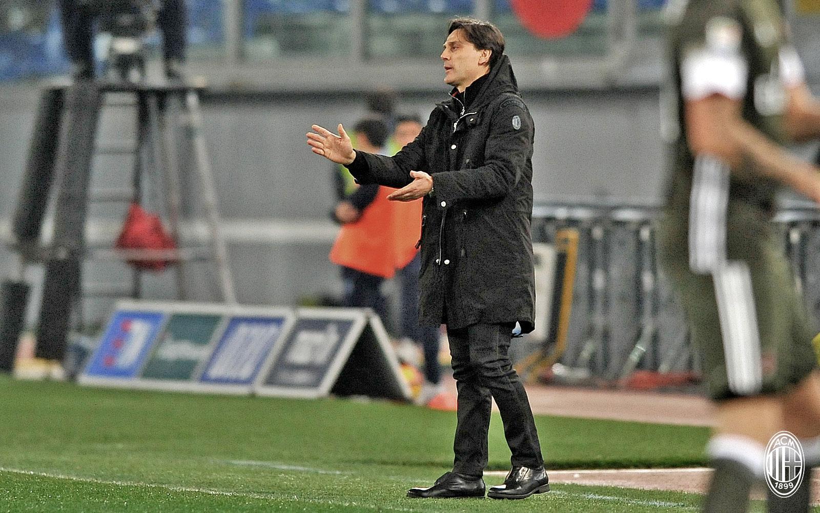 Vincenzo Montella durante Lazio-Milan
