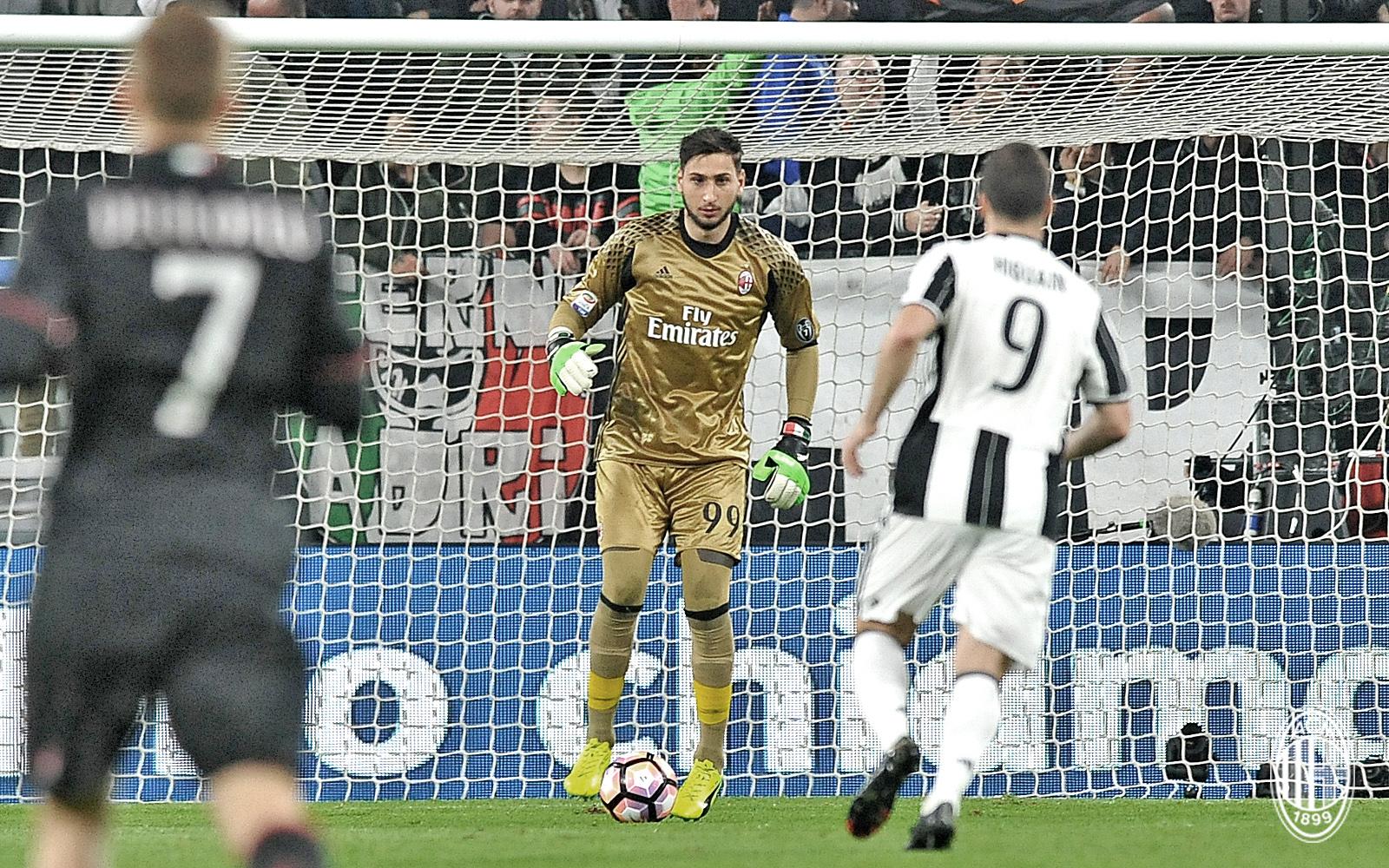 Donnarumma durante Juventus-Milan