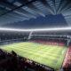 Il rendering di un progetto del nuovo stadio di Milano.